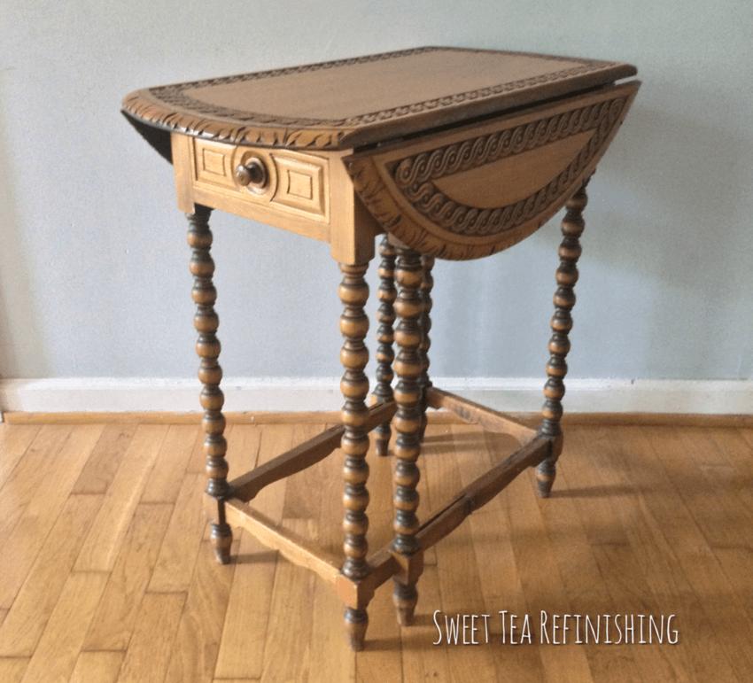 Gate Leg Table Before Charleston Green Paint
