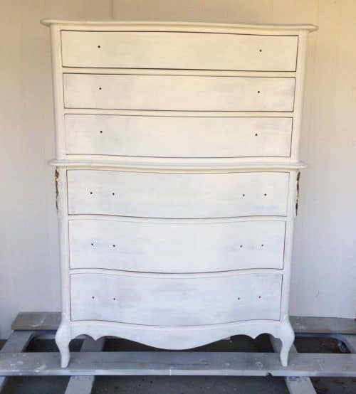 Appliques can take a worn out piece and make it new again! #thatsweettealife #furnitureappliques #furniturepainter #paintedfurniture #furnituremakeover #PrimedFurniture
