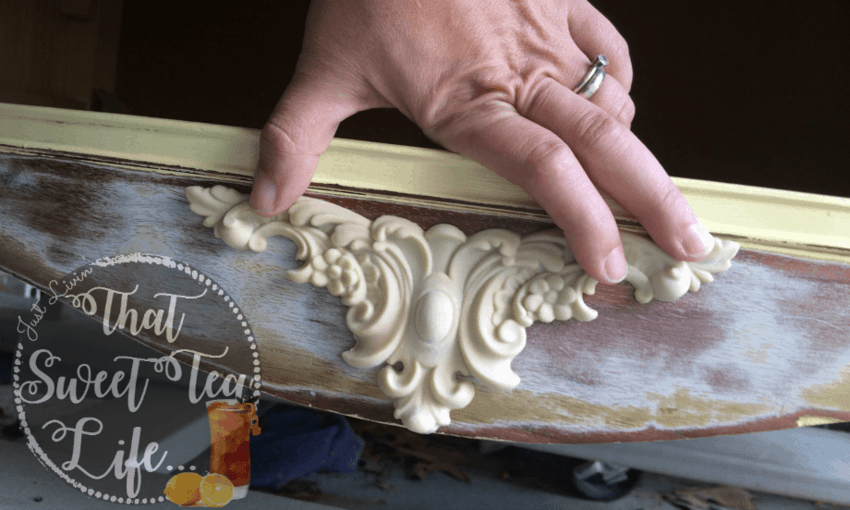 How to use Efex Appliques to Save an Old Dresser
