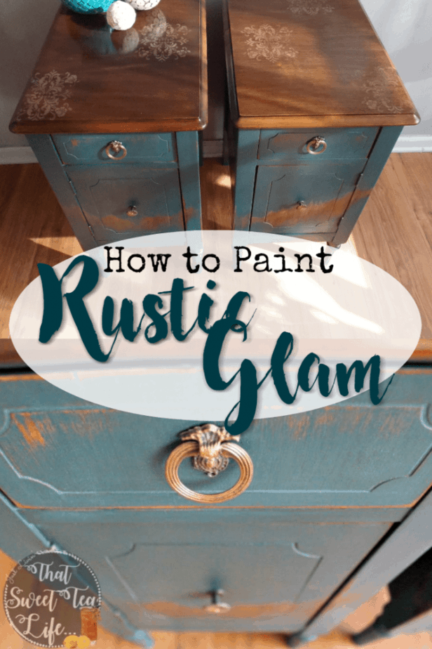 How to paint rustic glam look
