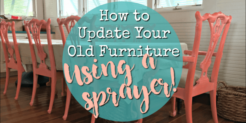 how to paint furniture -How to Spray Paint furniture