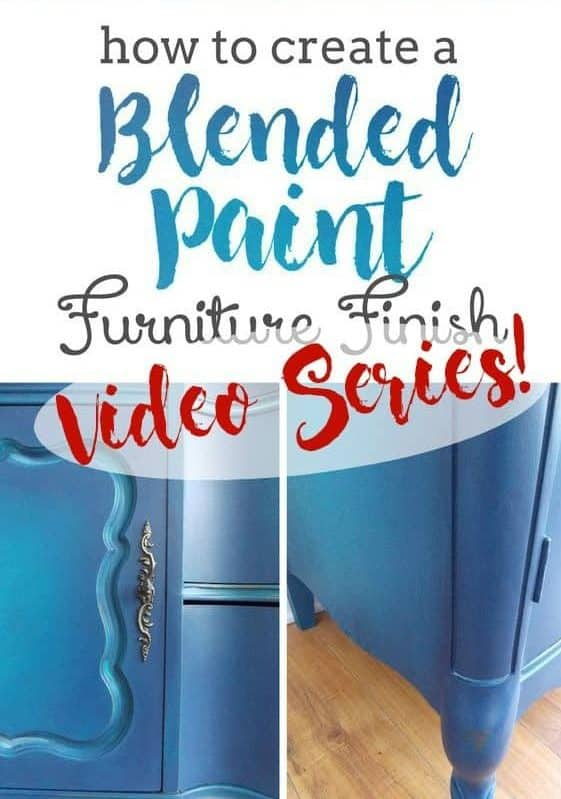Furniture Painting Techniques: Blending Paint Step-by-Step Tutorial including Videos! #thatsweettealife #bluefurniture #wiseowlchalksynthesispaint #chalkpaint #paintedfurniture