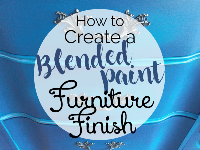Blue Painted Furniture: Your Blended Paint Inspiration