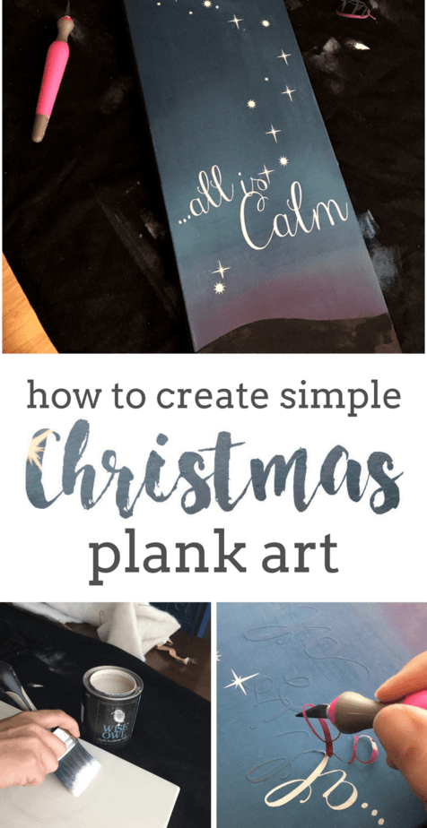 DIY Sign for Christmas using blended paint technique and my Cricut | That Sweet Tea Life | Farmhouse Christmas Decor | DIY Christmas Decor | Stencil Art | Cricut Projects | Painted Christmas Decorations | Christmas Decorating Ideas
