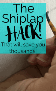 Faux Shiplap- tutorial The Shiplap Wall Hack that can save you Thousands! by Thea at That Sweet Tea Life | DIY Shiplap |faux shiplap | shiplap hack | wall ideas | shiplap walls | installing shiplap | how to shiplap | faux walls #Shiplap #DIYShiplap #Shiplaphack #wallideas #Fauxshiplap