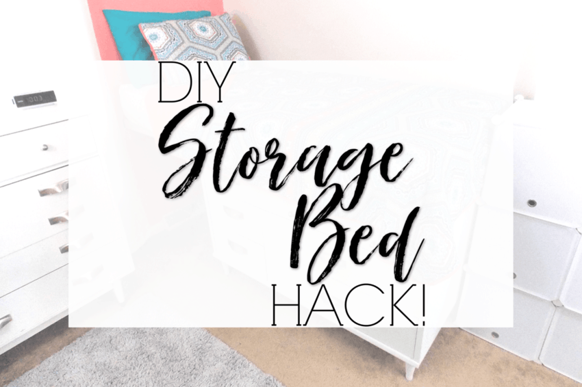 The DIY Storage Bed Hack You won't Believe!