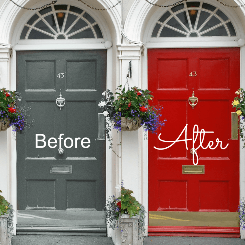 The Front Door Challenge Wise Owl Chalk Synthesis Paint That