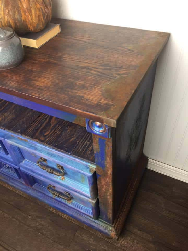 Rustic Blue Painted Furniture