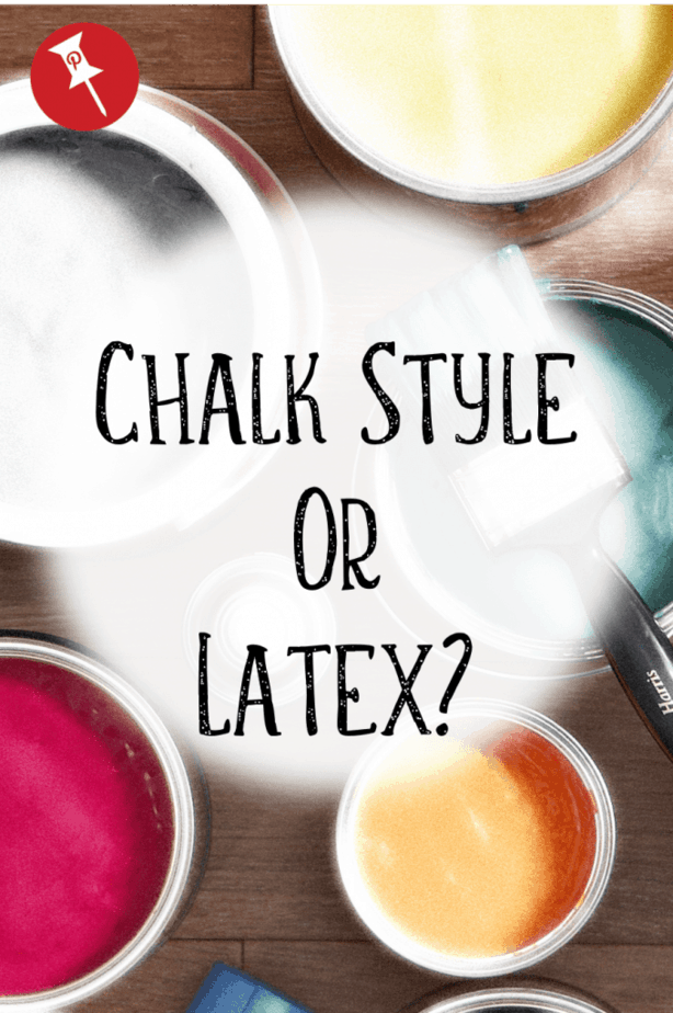 Chalk Style Paint or Latex: The Choice is Yours But, which paint should you use? We break down the differences and make your choice easy! #chalkpaint #paintedfurniture #chalkpaintedfurniture #howtopaintfurniture