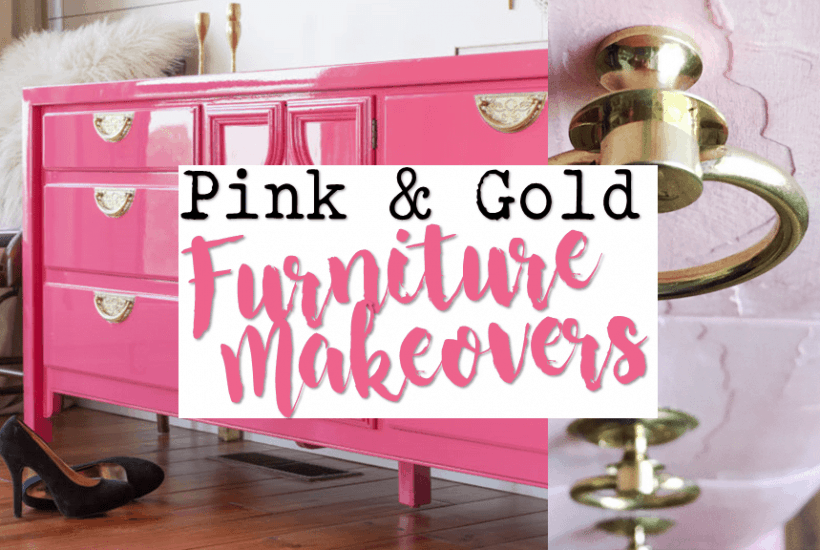 Pink and Gold Painted Furniture Makeovers Furniture Lovers Must See