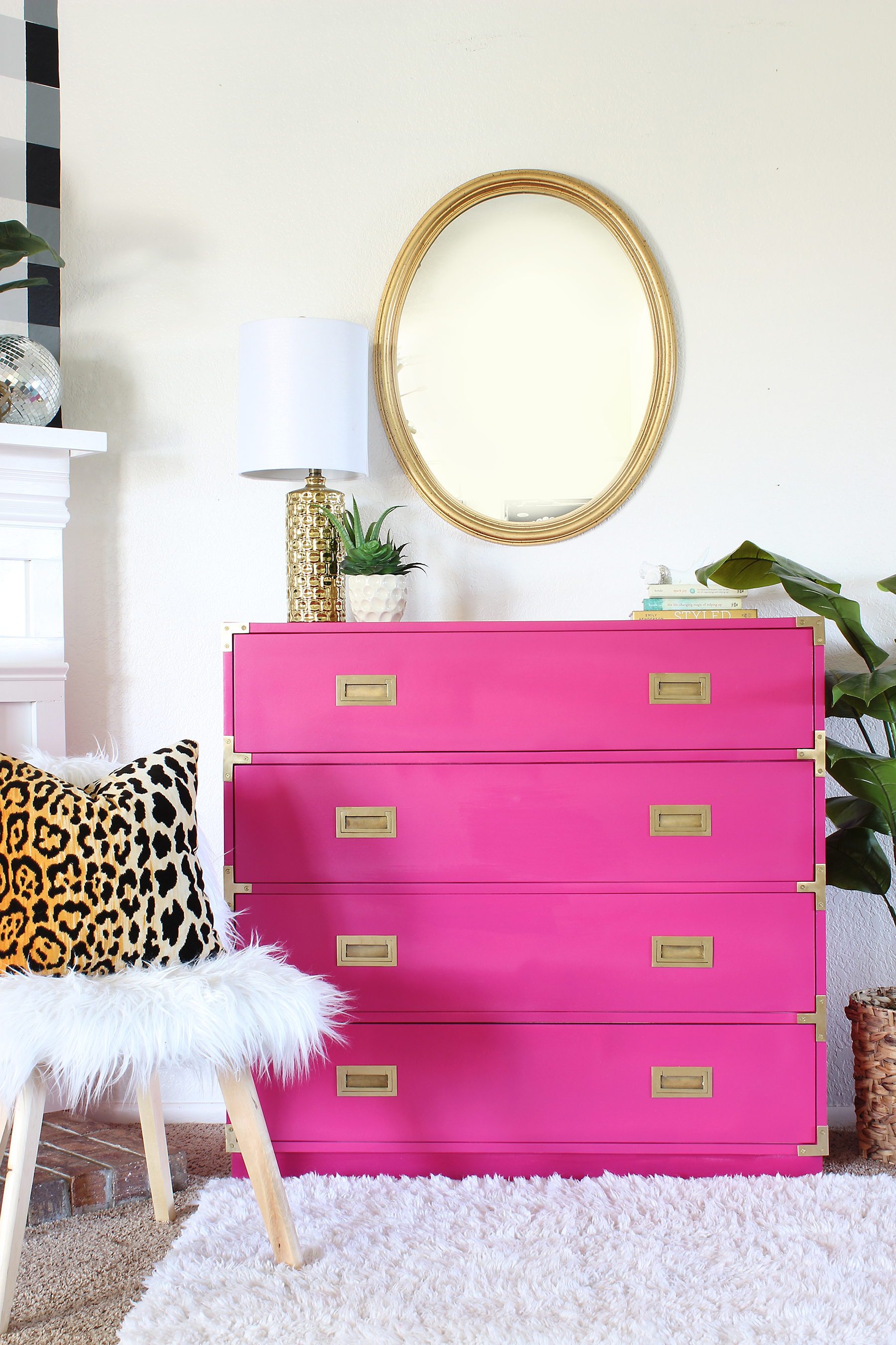 pink and gold painted furniture-campaign-dresser Pink and Gold Painted Furniture Makeovers to get you inspired! #PinkPaintedFurniture #shabbychic #pale #girls #blush #rose #hotpink #blushpink via @thatsweettealife