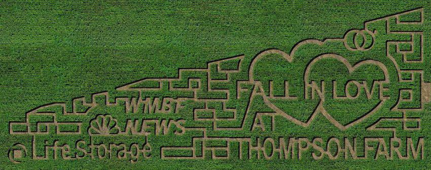 Thompsons Farm Corn Maze- top things to do in south Carolina in the fall