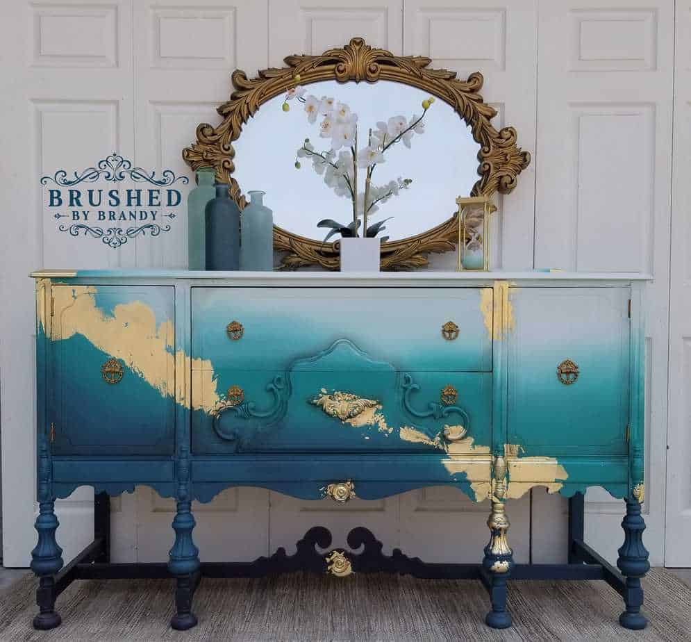 Teal and Gold Buffet