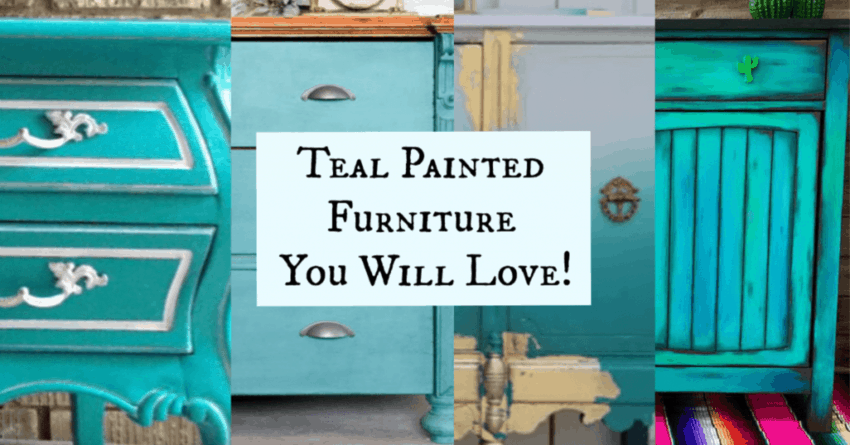 Teal Painted Furniture
