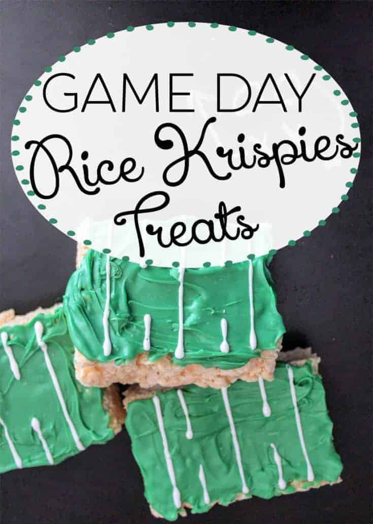 Game Party Rice Krispies Treats
