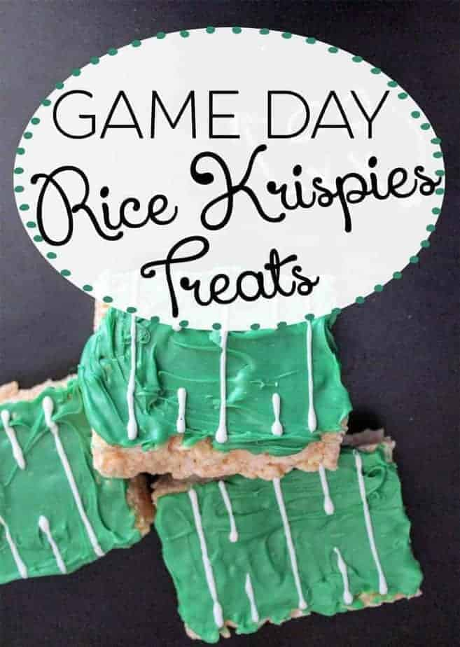 Simple Game Day Rice Krispies Treats! #Tailgate #FunFood #PartyFood