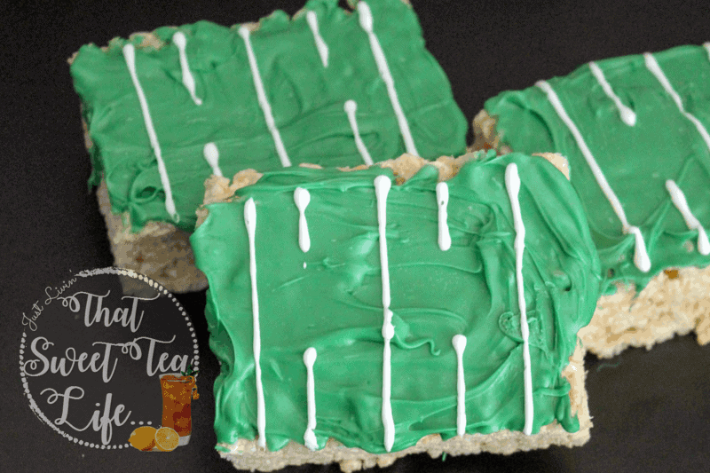 Make easy Game Day Rice Krispies Treats
