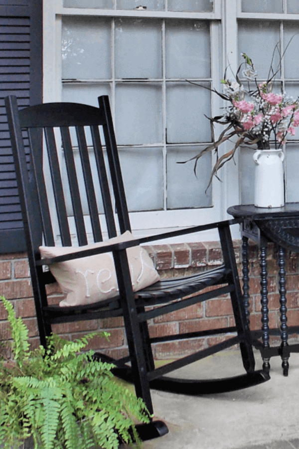 Painted Rocking Chair A Diy You Can Do That Sweet Tea Life