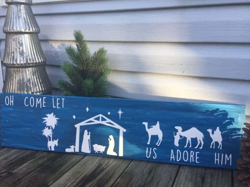 diy wooden nativity sign