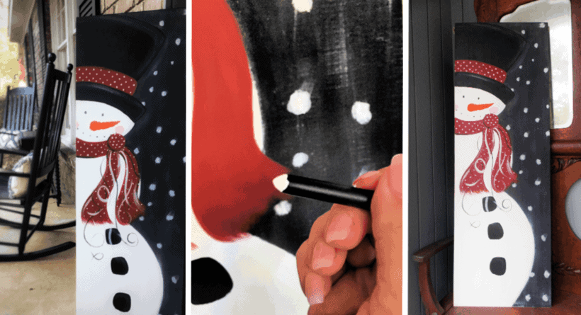 Wooden Christmas Signs to DIY – A Snowman Painting on Wood