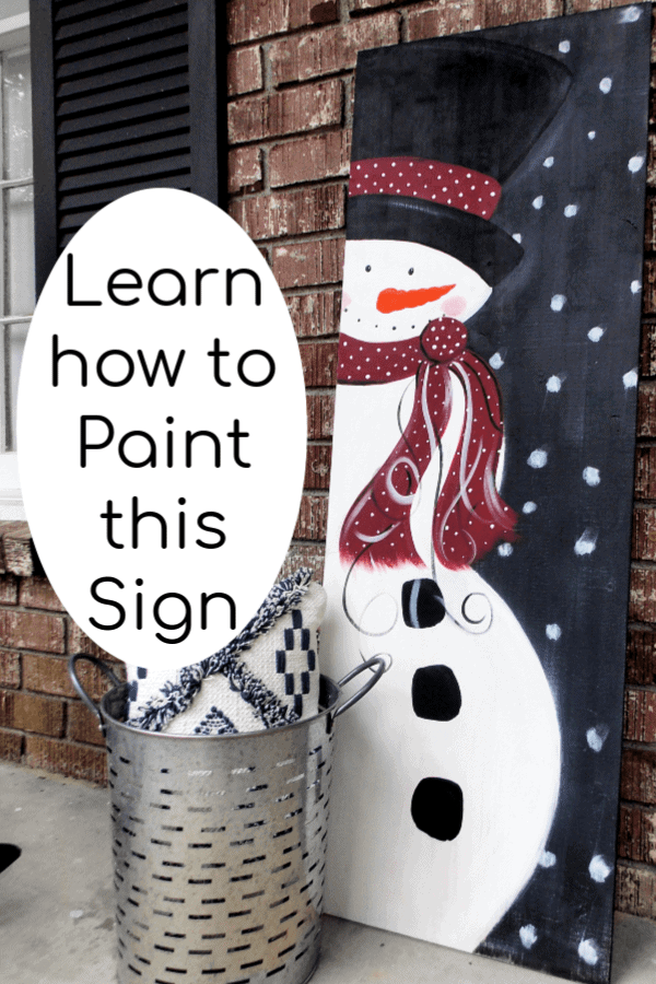 Wooden Christmas Signs To Diy A Snowman Painting On Wood