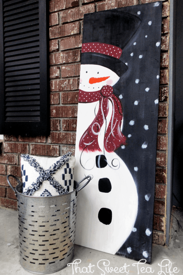 Diy Wood Signs How To Make A Snowman Painting On Wood