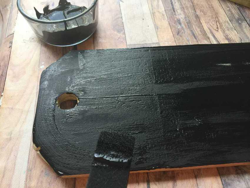 paint diy wood sign door tags