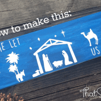 DIY Wooden Nativity Sign