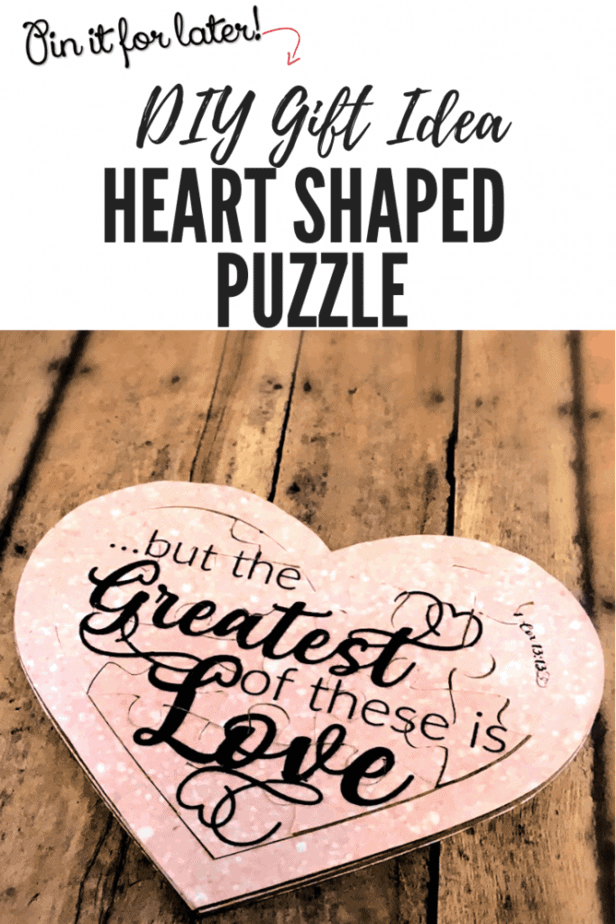 How to make a puzzle | DIY Puzzle in the shape of a heart