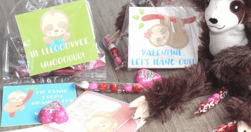 Printable Sloth Valentines Free
