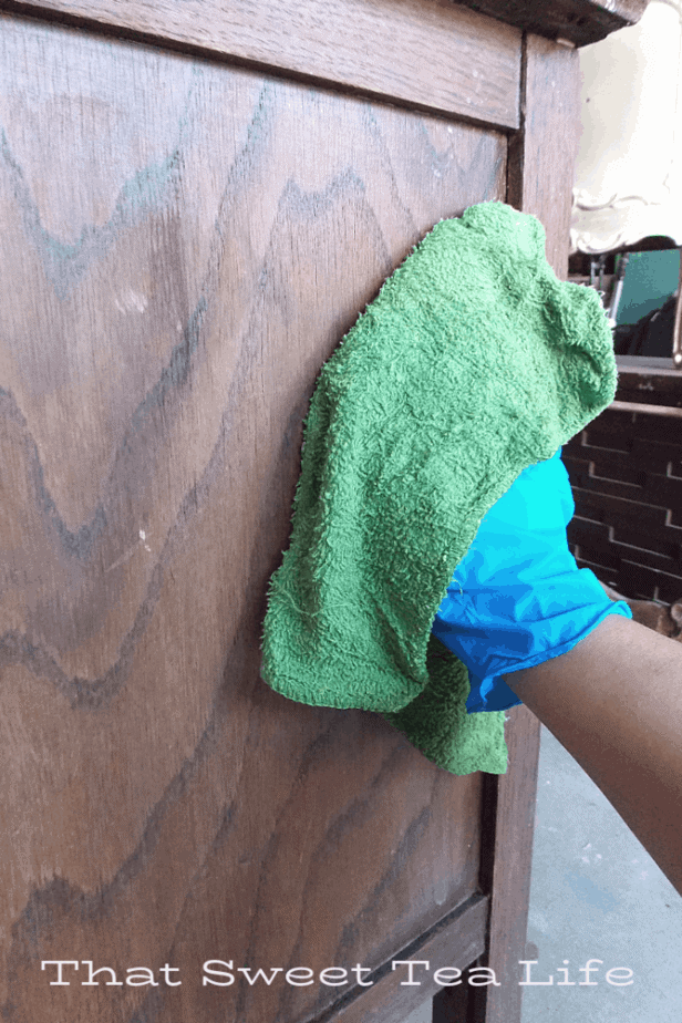 Cleaning furniture before you paint | Prep is NOT a four letter word when you know how and why!  | Antique Wash Stand Makeover | furniture makeover | painted furniture | chalk painted furniture | green furniture | refurbished furniture | home decor | home decor ideas | painted dressers