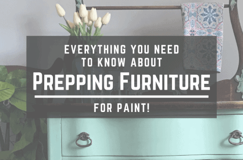 How to Refinish Furniture: Prep