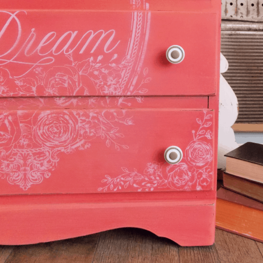 DIY Furniture: A Dresser in Coral Paint Colors