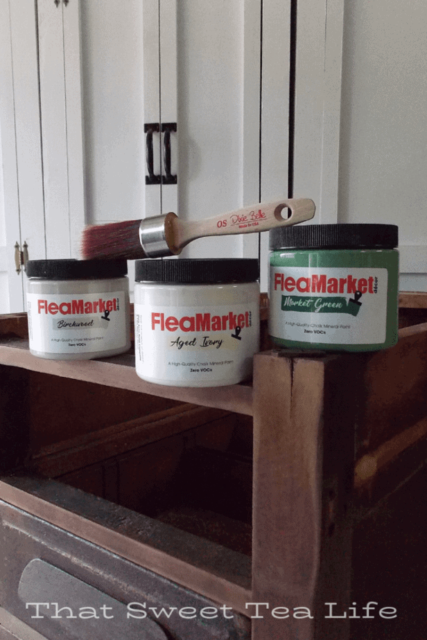 Dixie Belle Paint for repurposed desk ends