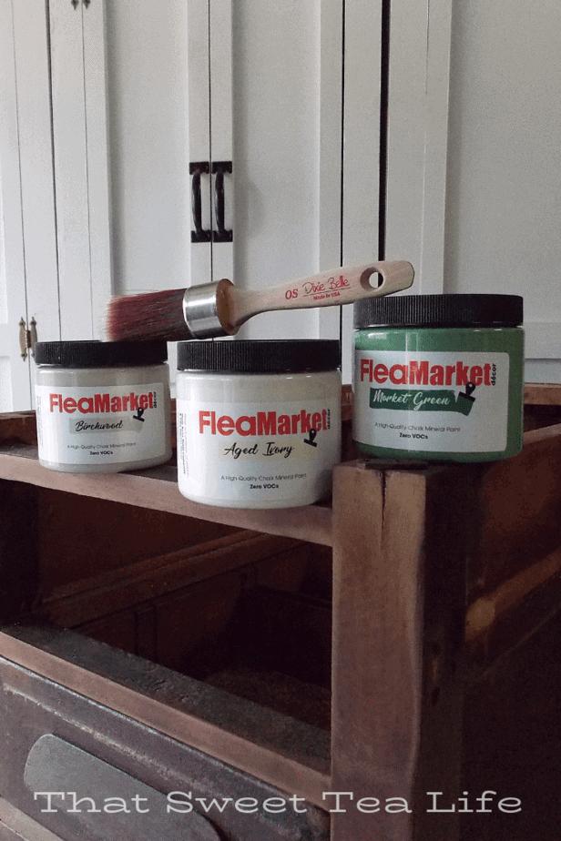 Dixie Belle Paint for repurposed desk ends