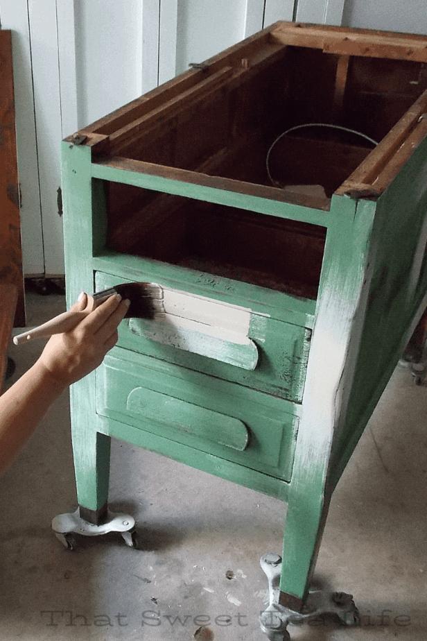 Dixie Belle paint in birchwood