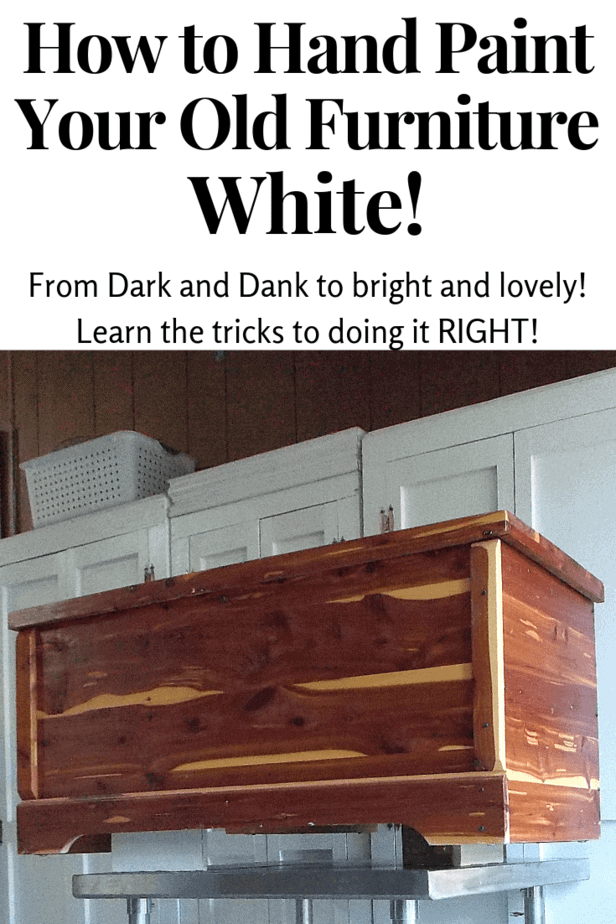 How to paint furniture white!