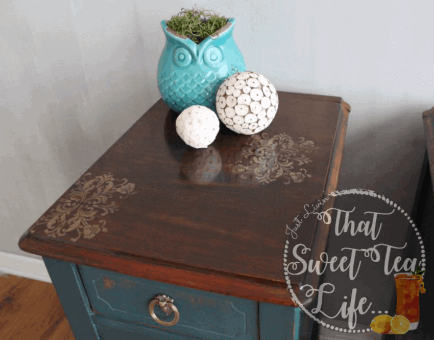 Wise Owl Paint in Abyss on End Tables