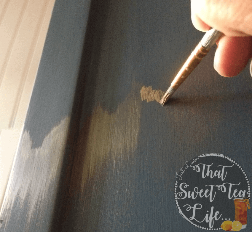Adding gold embellishments over Wise Owl Paint in Abyss