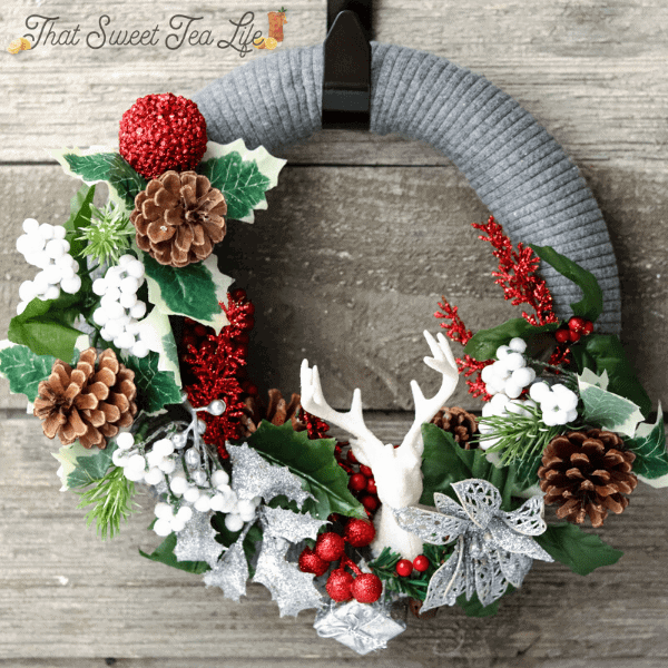dollar store wreath tutorial