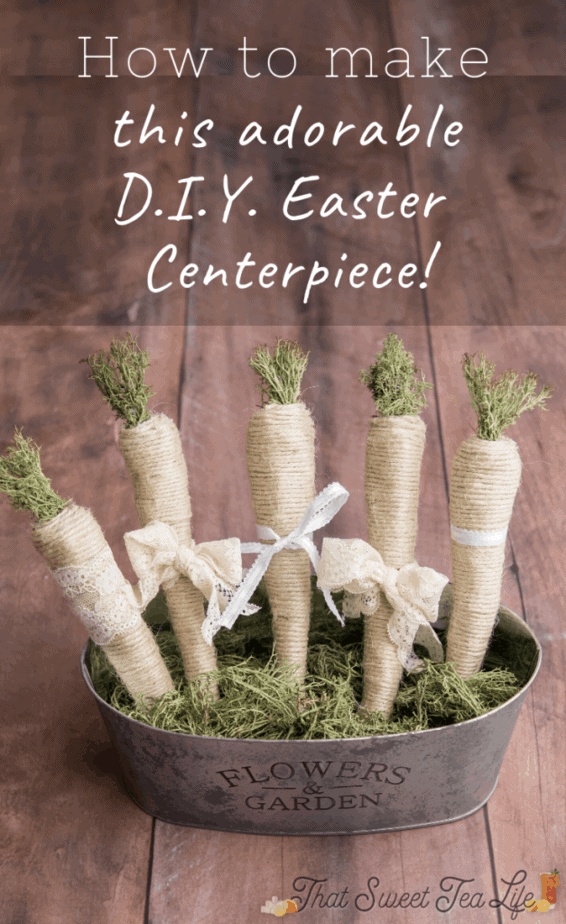 How to DIY Easter Decorations you will love! (Including this adorable farmhouse basket) #DIYEasterDecor #EasterDecorations