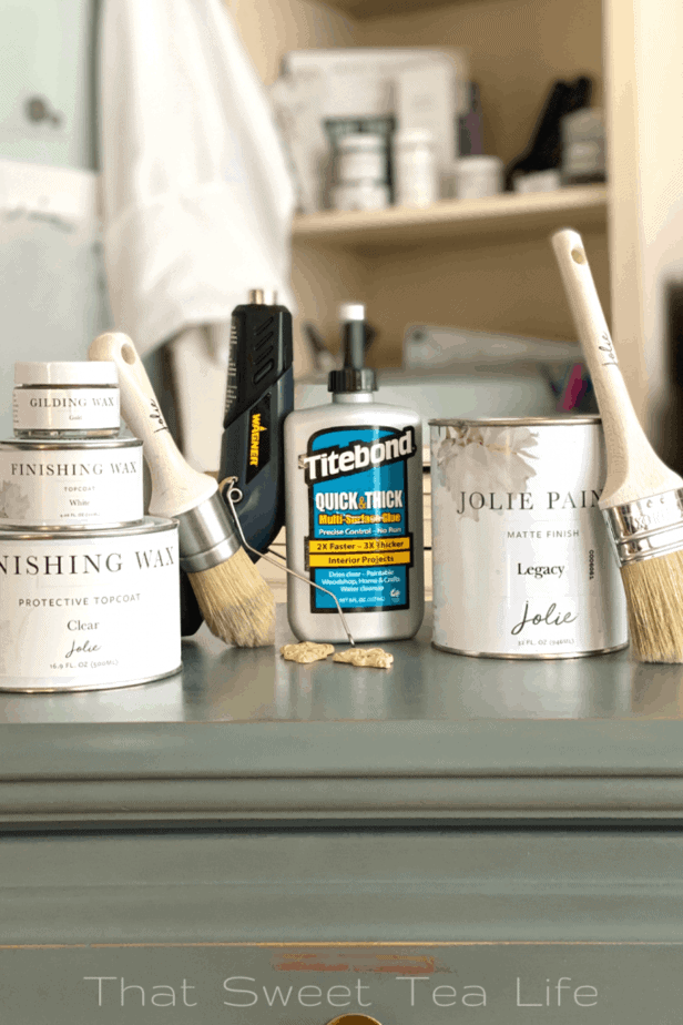 Jolie Paint Dresser Makeover Products