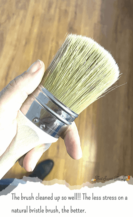 Natural Bristle Brush for Painting Furniture