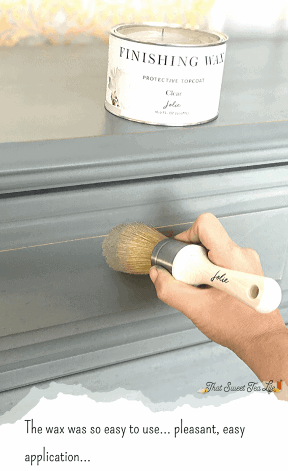 Waxing painted furniture