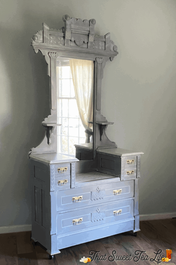 Autentico Gray and White Painted Dresser