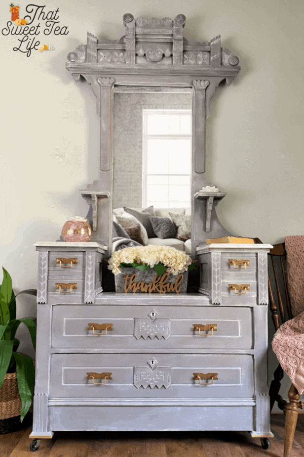 Gorgeous Gray and White Painted Dresser