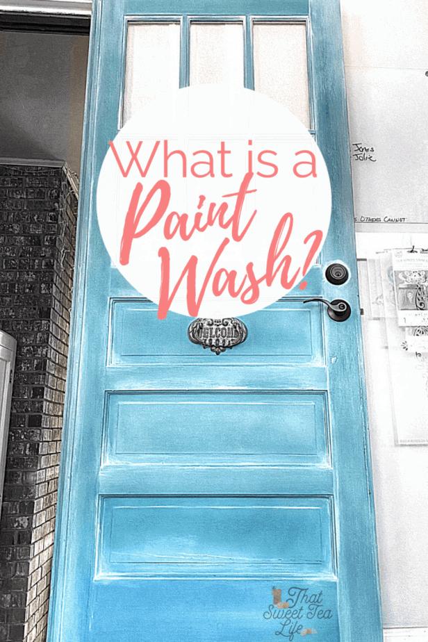 paint wash on a door