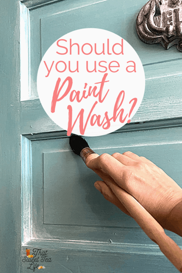 Applying a paint wash on furniture