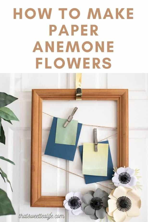 how to make paper anemone flowers