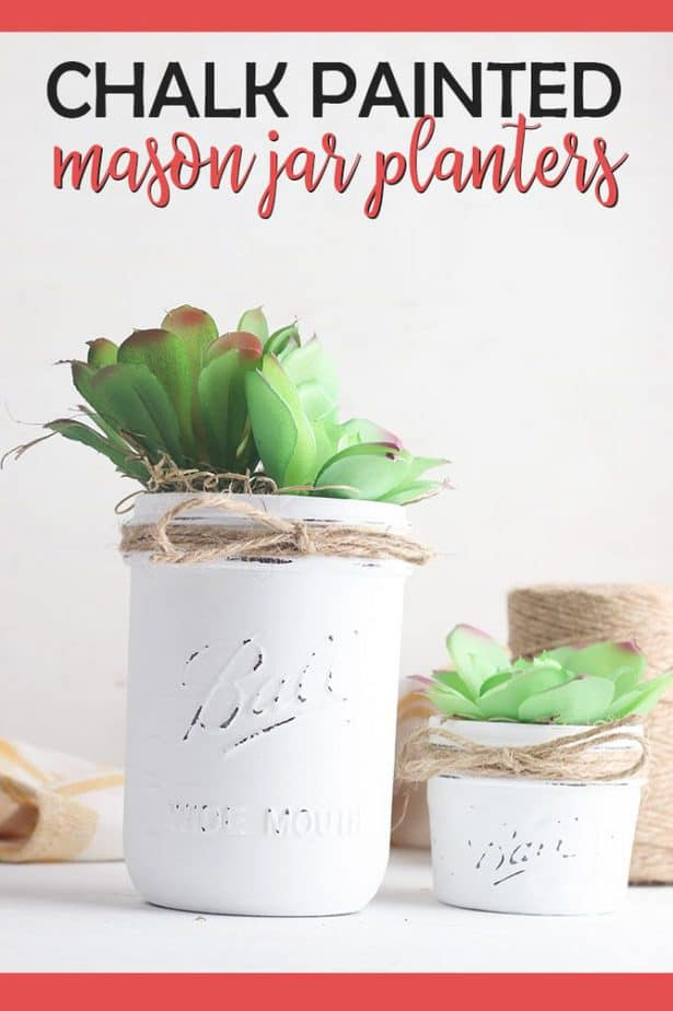 Decorated mason Jars for Planters